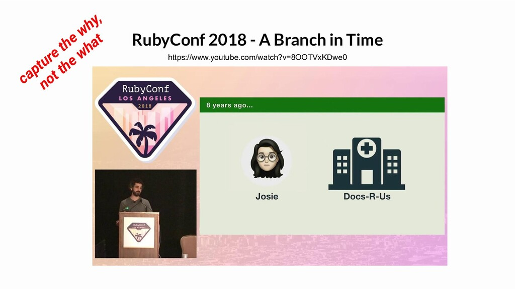 RubyConf 2018 - A Branch in Time https://www.yo...