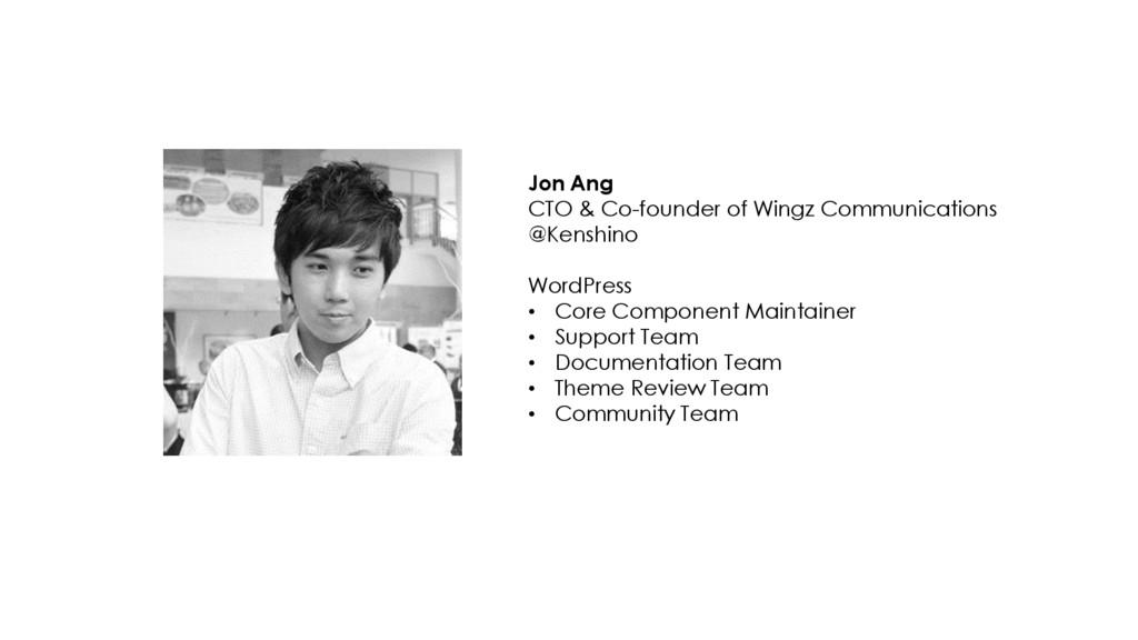 [ 2 ] Jon Ang CTO & Co-founder of Wingz Communi...