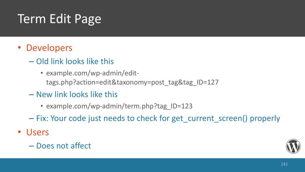 Term Edit Page • Developers – Old link looks li...