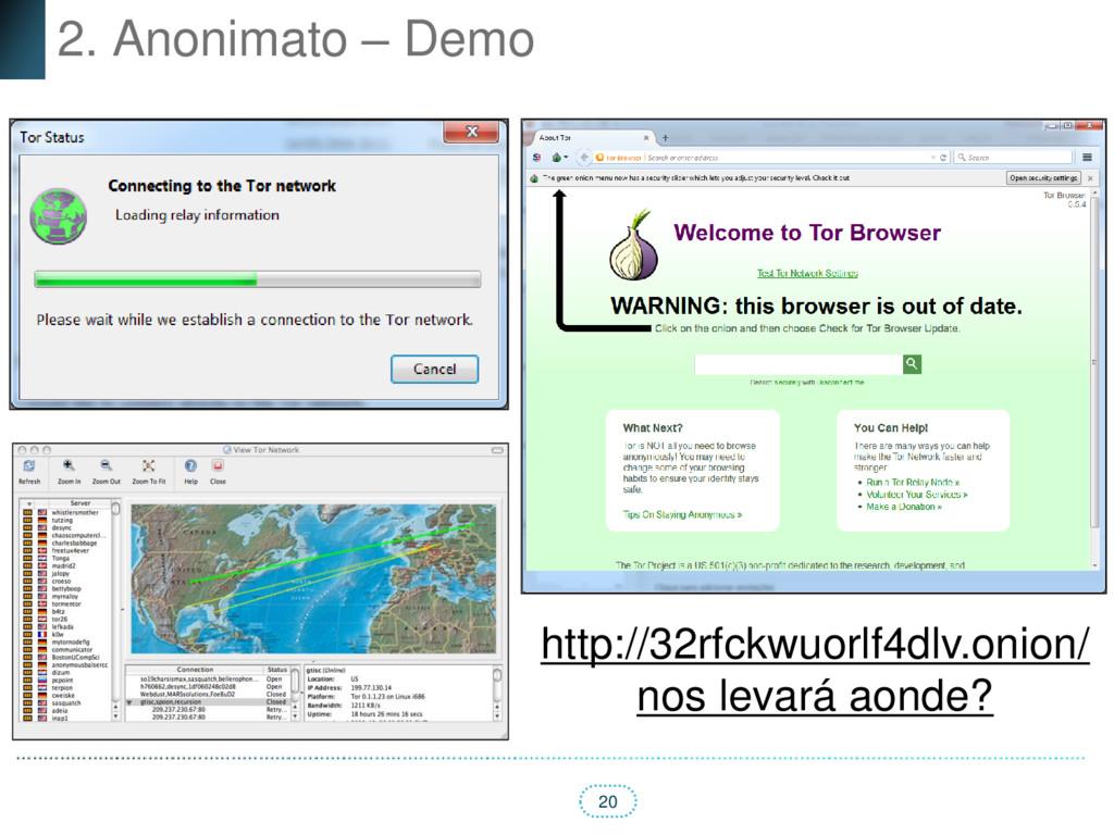 20 2. Anonimato – Demo http://32rfckwuorlf4dlv....