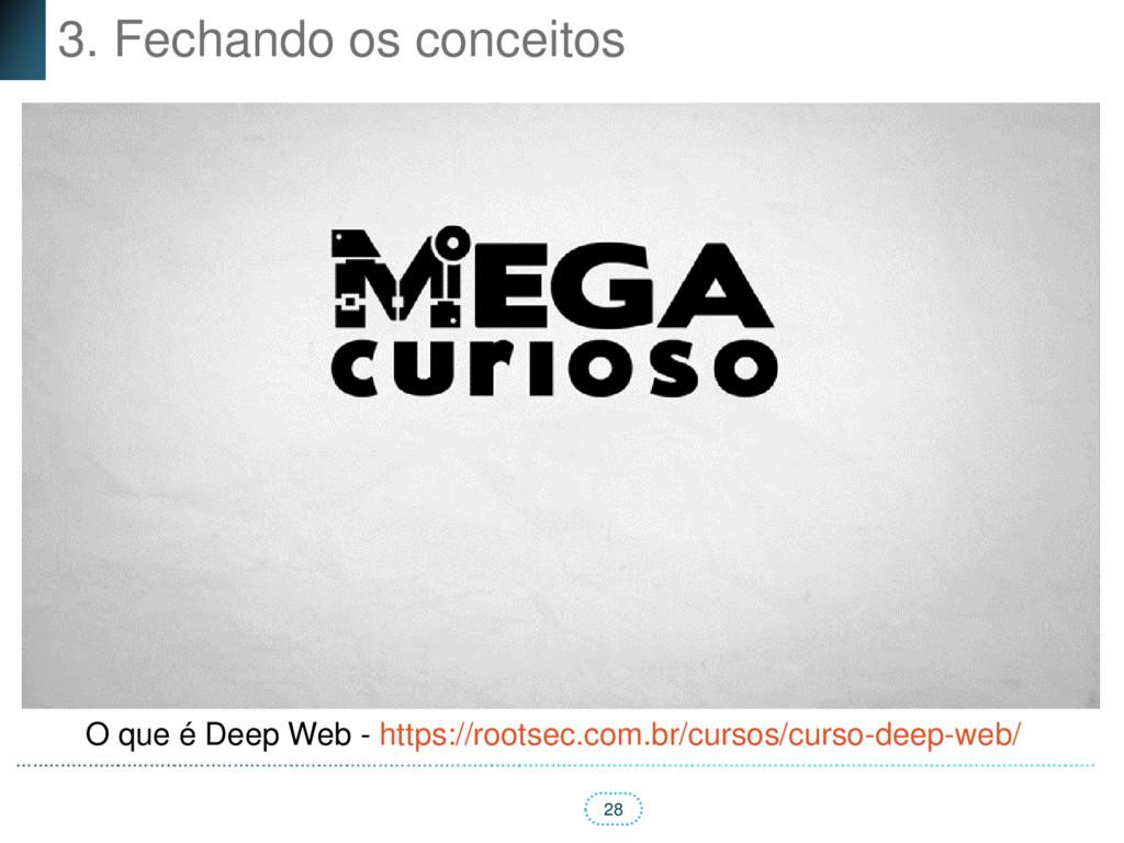28 3. Fechando os conceitos O que é Deep Web - ...