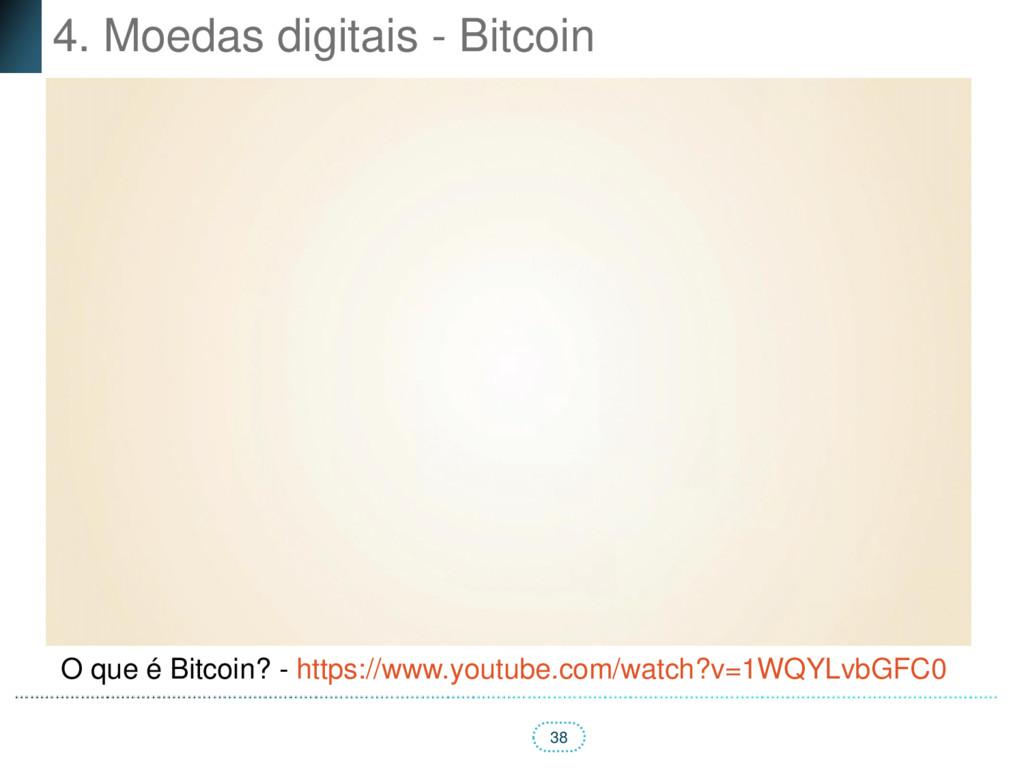 38 4. Moedas digitais - Bitcoin O que é Bitcoin...