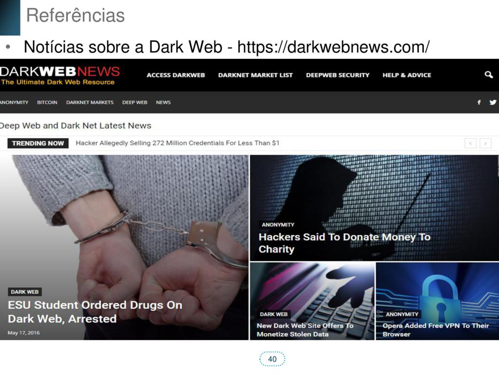 40 Referências • Notícias sobre a Dark Web - ht...