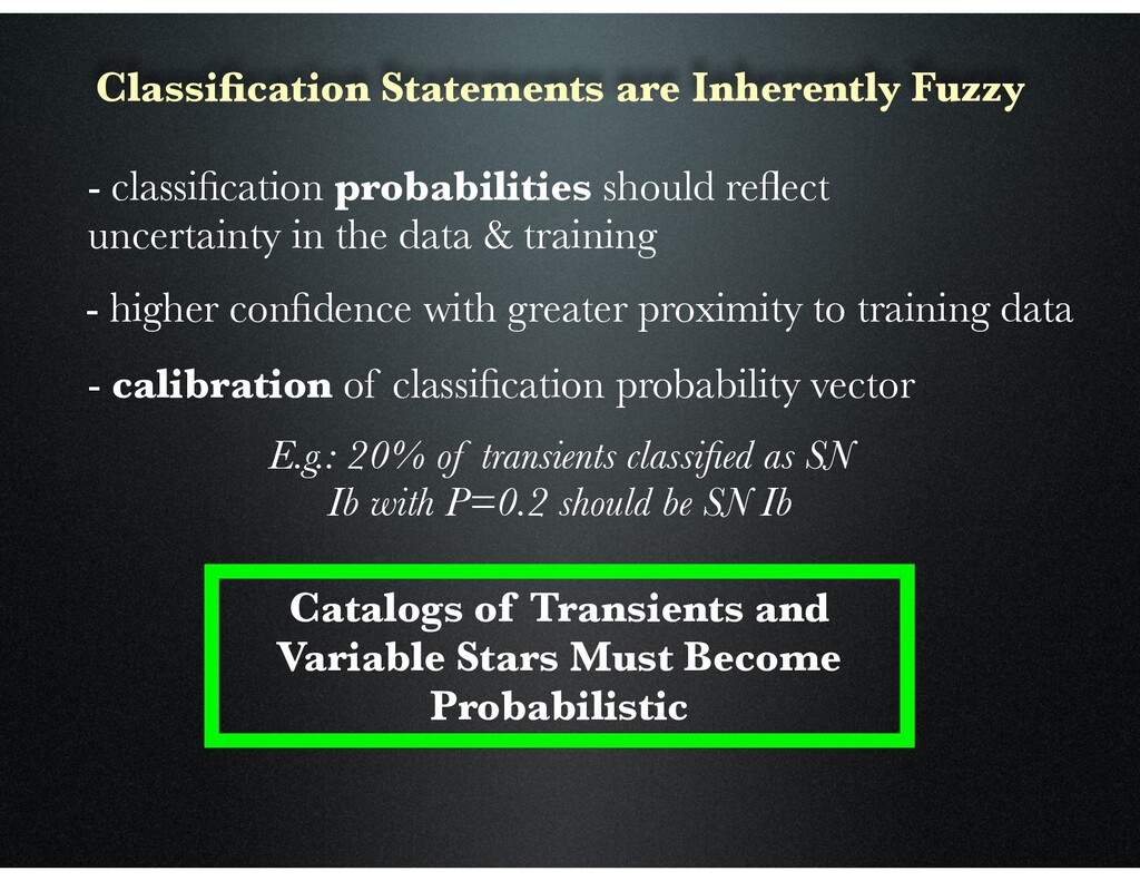 Classification Statements are Inherently Fuzzy -...
