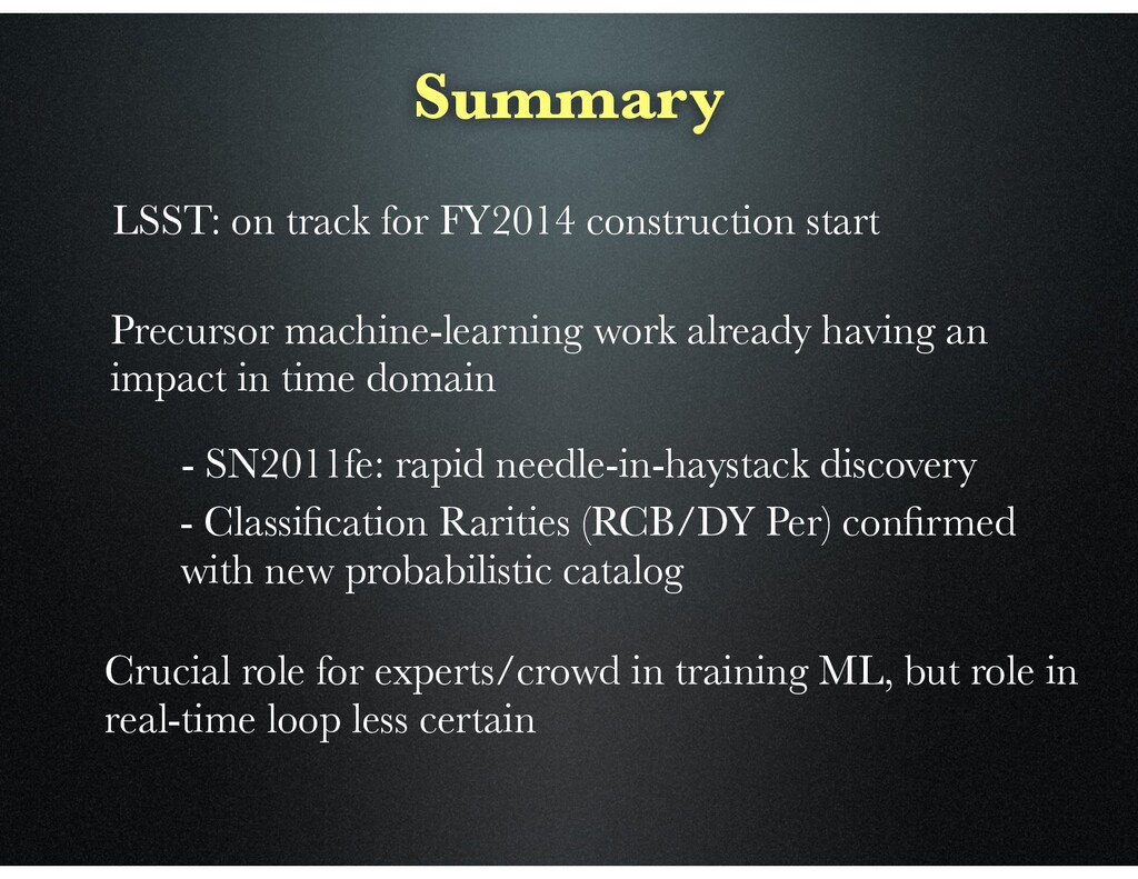 Summary LSST: on track for FY2014 construction ...