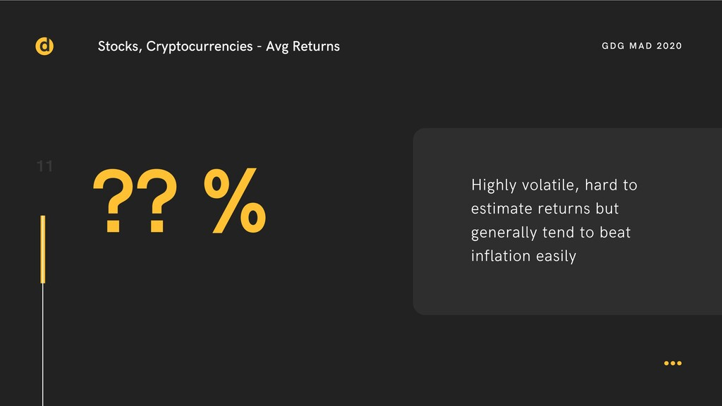 11 Stocks, Cryptocurrencies - Avg Returns ?? % ...
