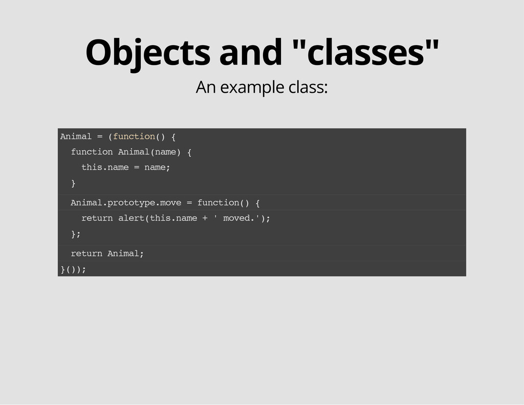 "Objects and ""classes"" An example class: A n i m..."