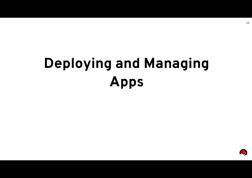 12 Deploying and Managing Apps