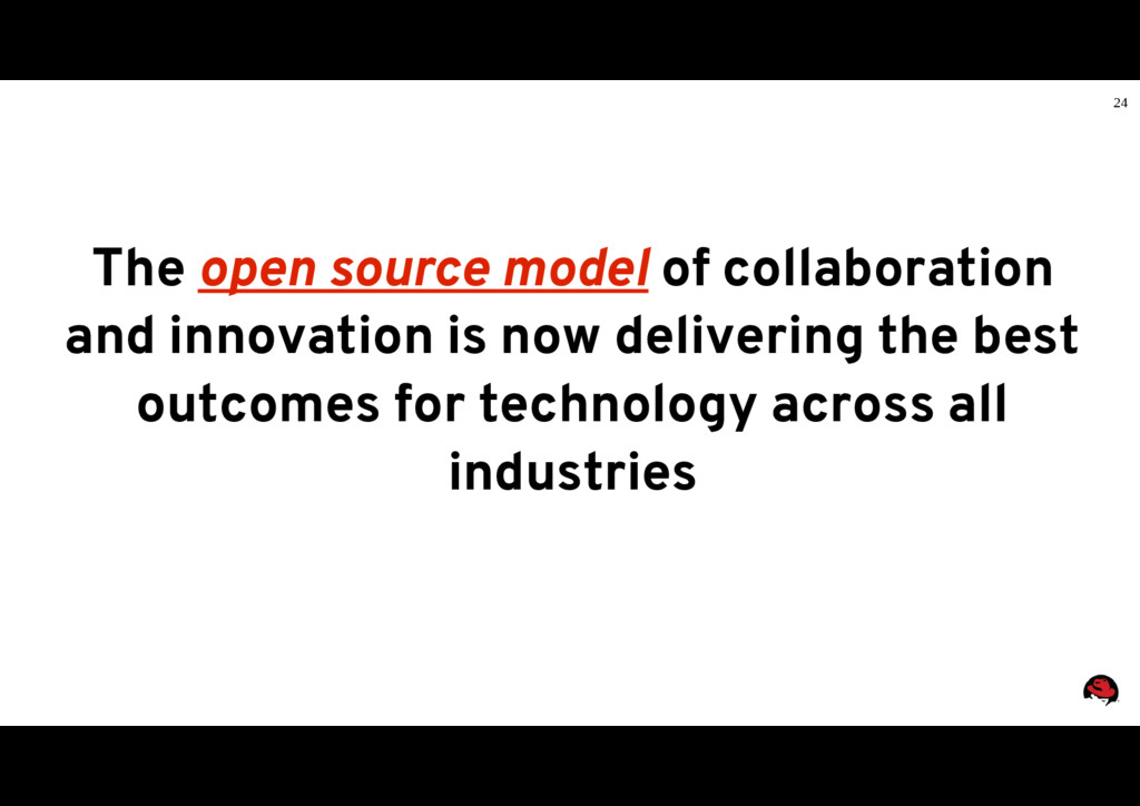 24 The open source model of collaboration and i...