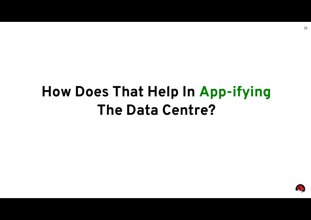 31 How Does That Help In App-ifying The Data Ce...