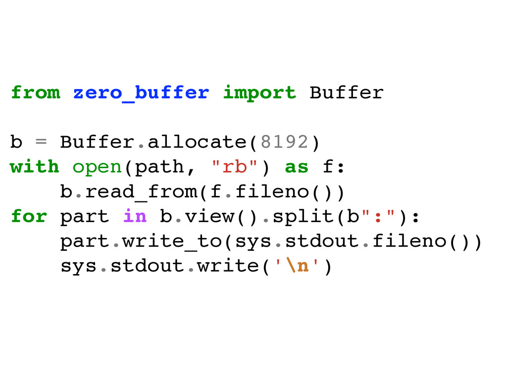 from zero_buffer import Buffer! ! b = Buffer.al...
