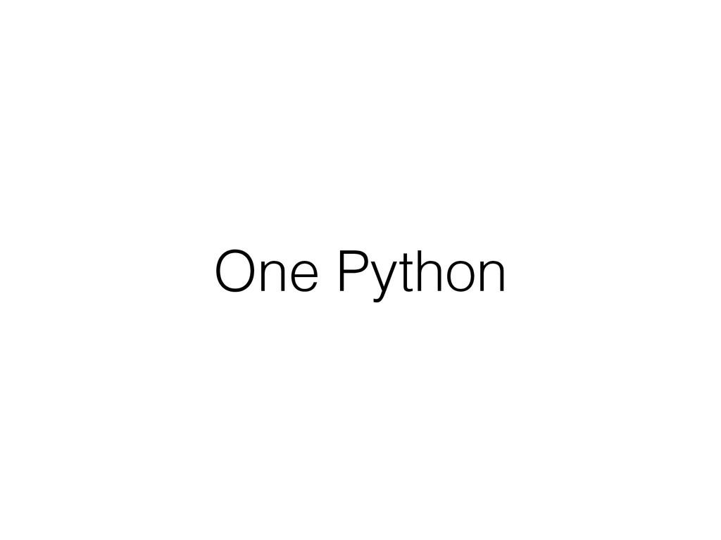 One Python