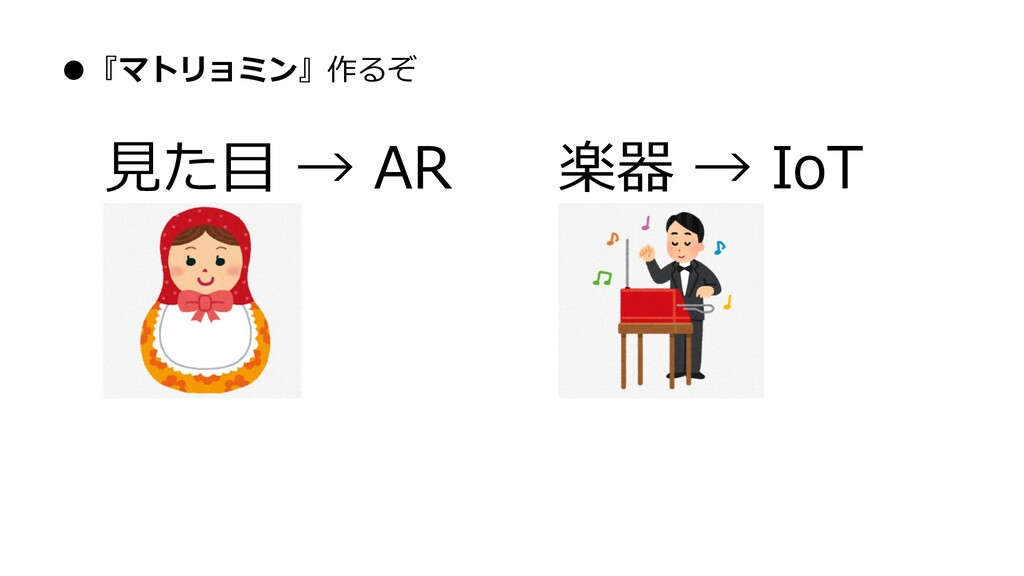 ●『マトリョミン』作るぞ 見た目 → AR 楽器 → IoT