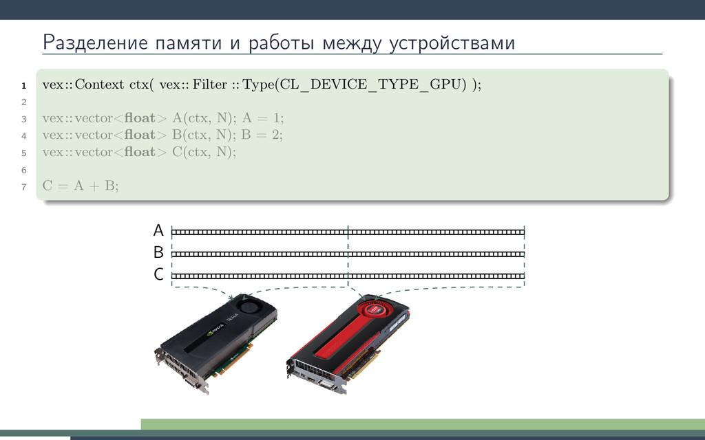 Разделение памяти и работы между устройствами 1...