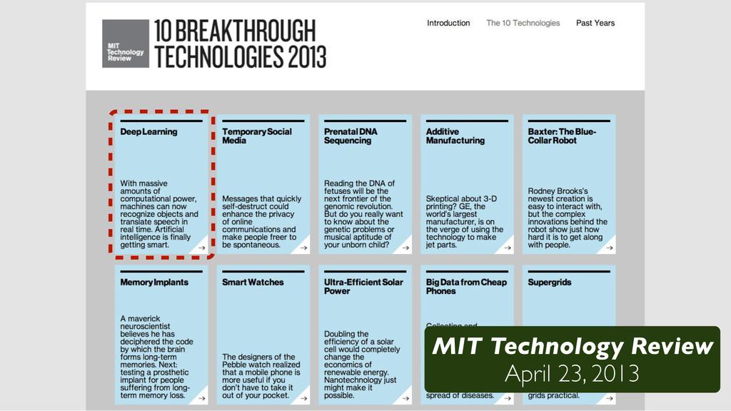 /48 MIT Technology Review April 23, 2013