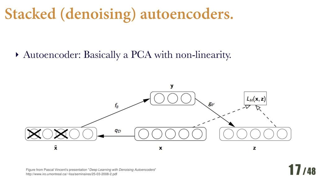 /48 Stacked (denoising) autoencoders. ‣ Autoenc...