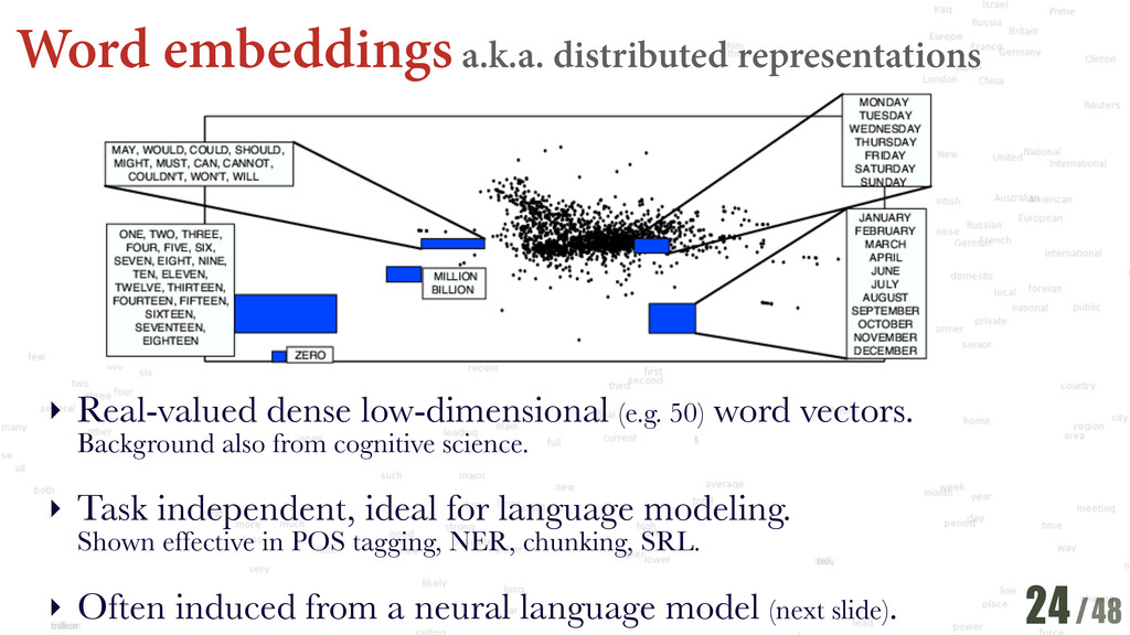 /48 Word embeddings a.k.a. distributed represen...