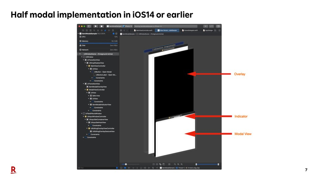 7 Half modal implementation in iOS14 or earlier
