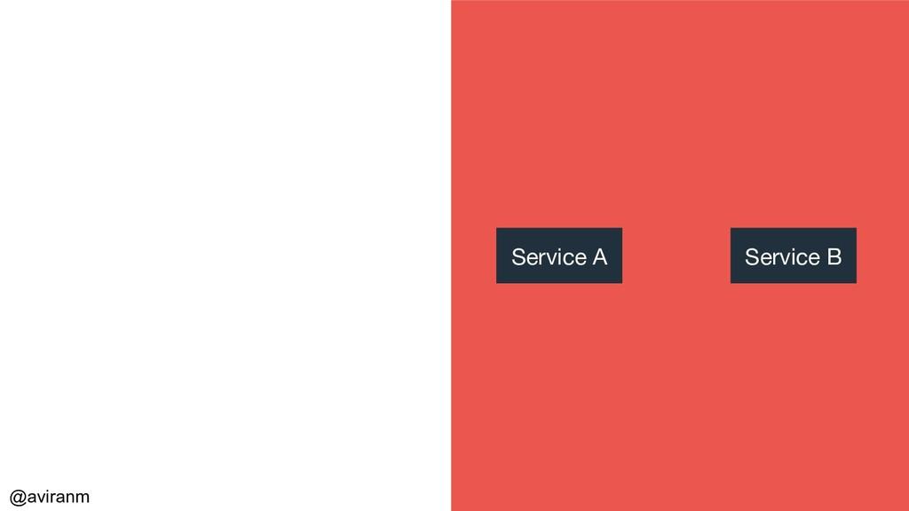 @aviranm Service A Service B