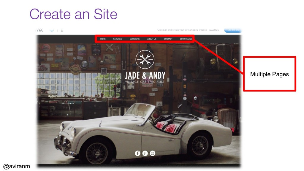 @aviranm Create an Site Multiple Pages