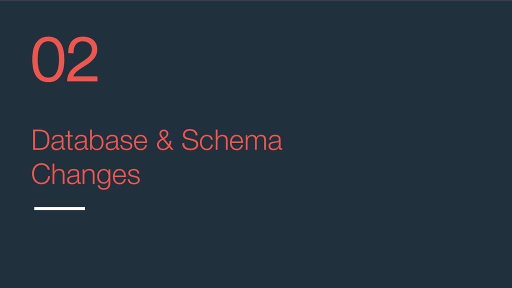 @aviranm Database & Schema Changes 02