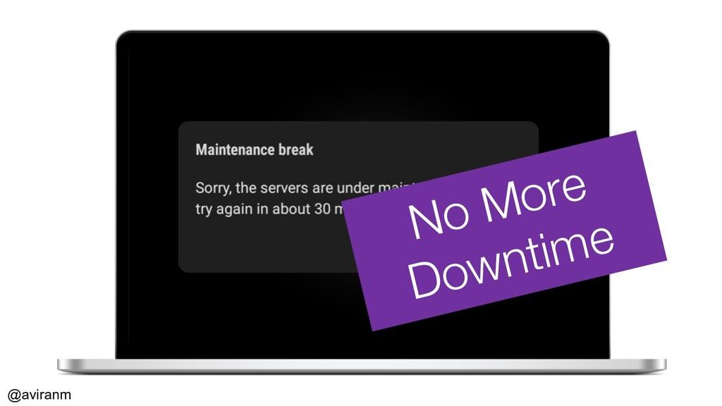 @aviranm No More Downtime