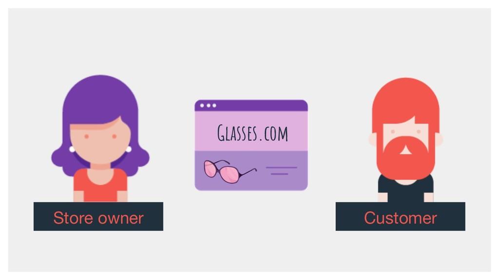 Store owner Glasses.com Customer