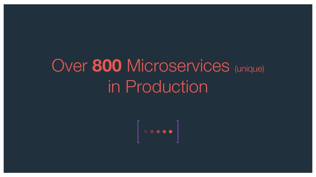 Over 800 Microservices (unique) in Production
