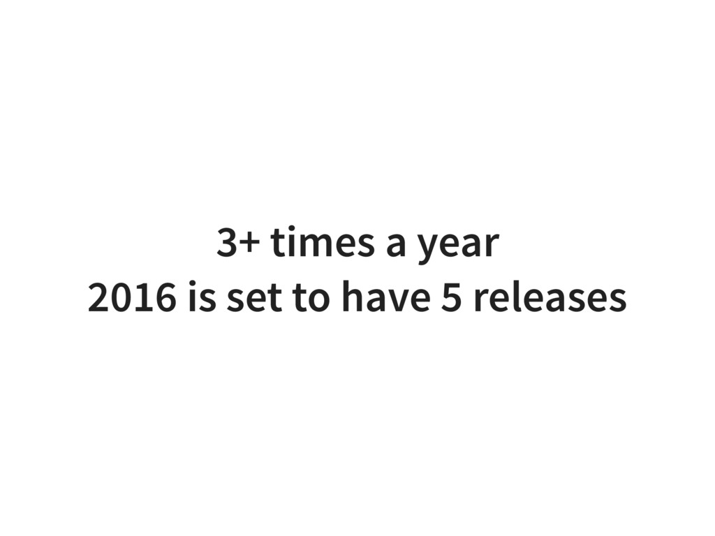3+ times a year 2016 is set to have 5 releases