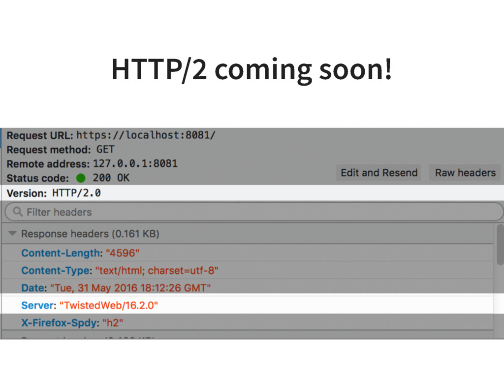 HTTP/2 coming soon!