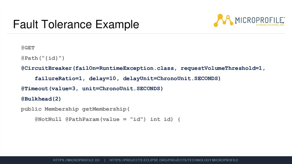"Fault Tolerance Example @GET @Path(""{id}"") @Cir..."