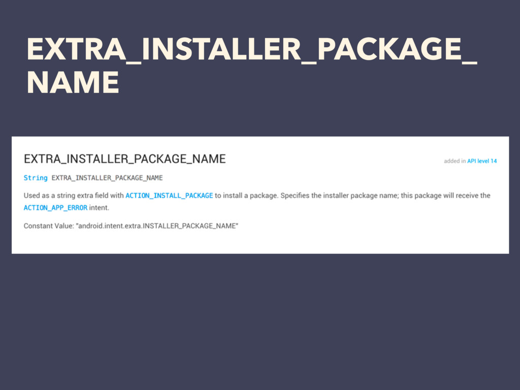 EXTRA_INSTALLER_PACKAGE_ NAME