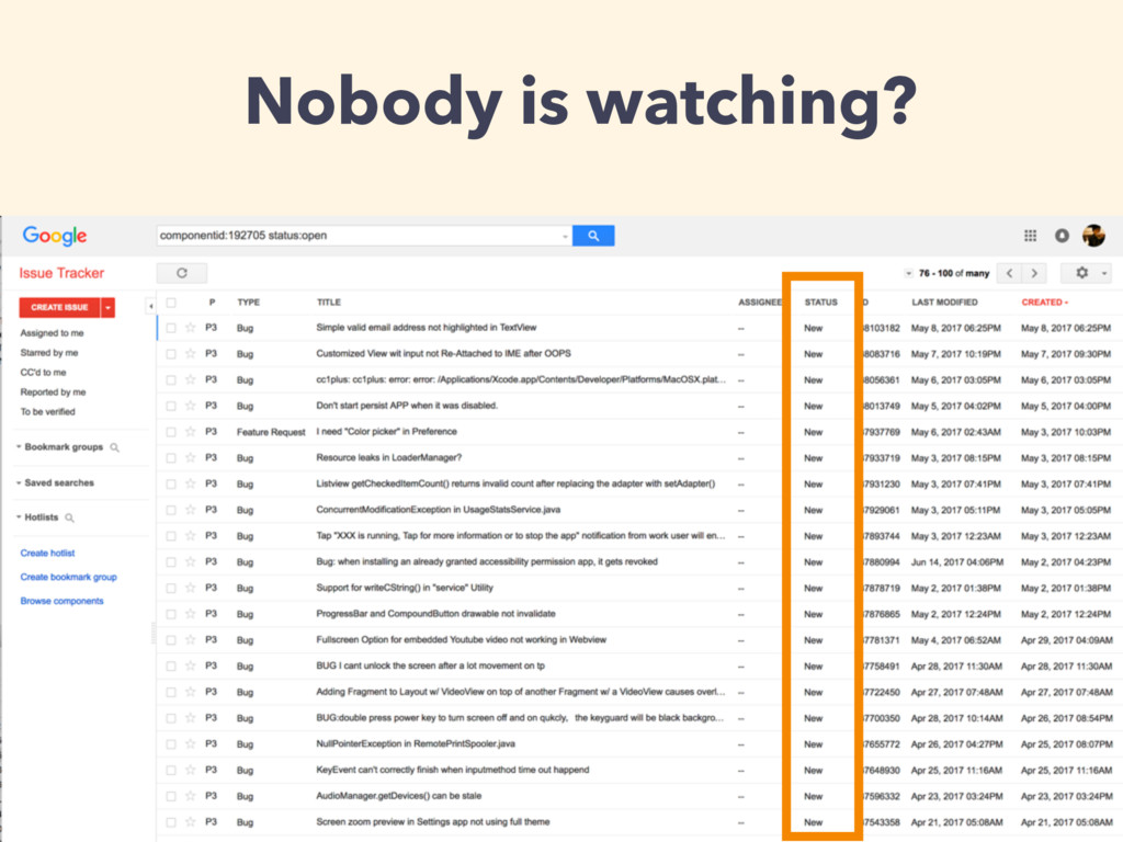 Nobody is watching?