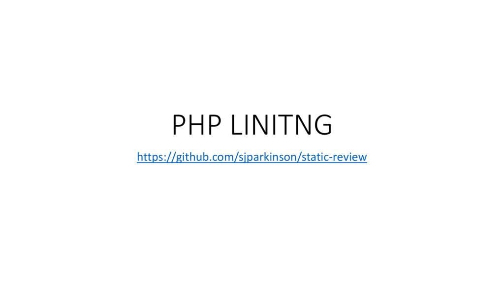 PHP LINITNG https://github.com/sjparkinson/stat...
