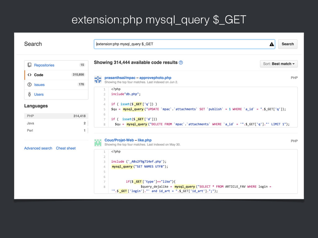 extension:php mysql_query $_GET