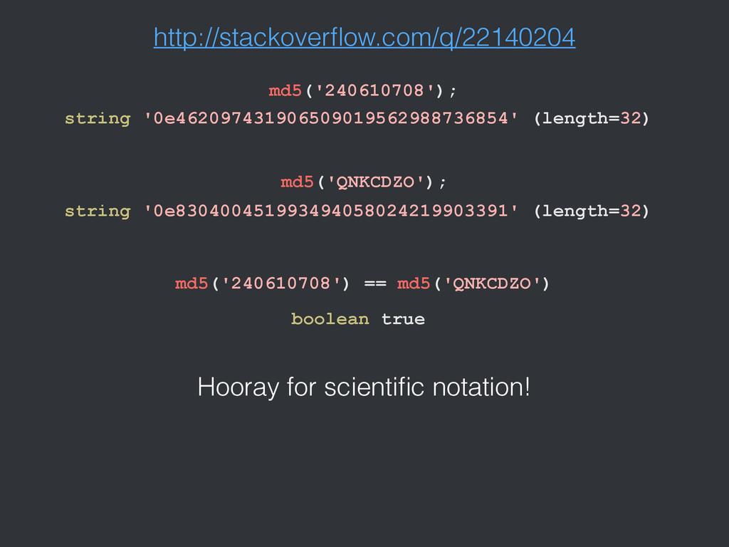 http://stackoverflow.com/q/22140204 string '0e46...