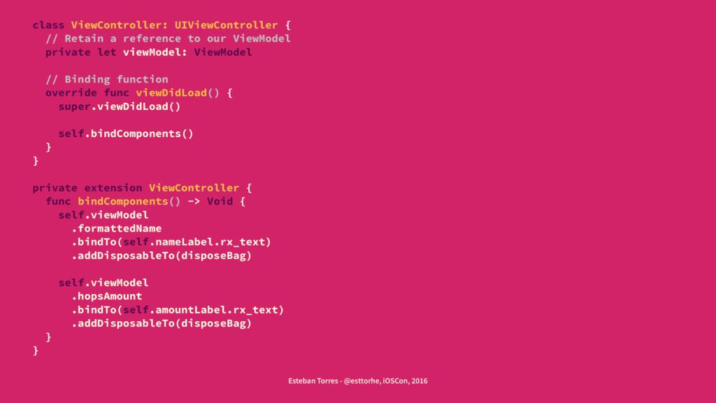 class ViewController: UIViewController { // Ret...