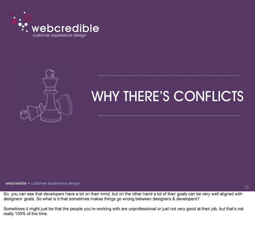 webcredible > customer experience design WHY TH...