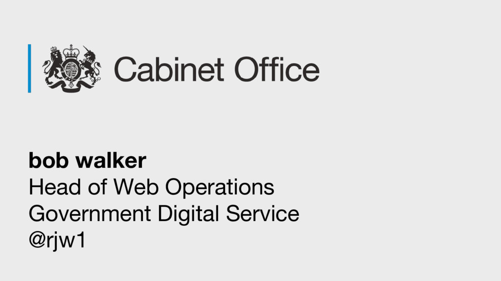 bob walker Head of Web Operations Government Di...