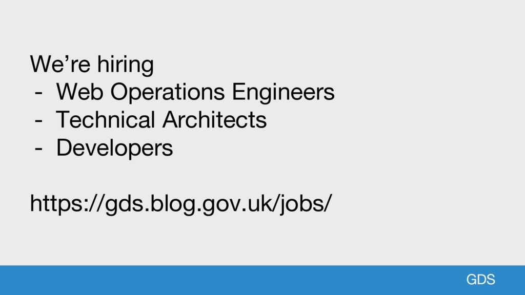 GDS We're hiring - Web Operations Engineers - T...