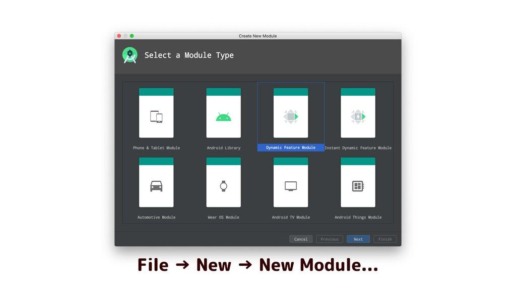 File → New → New Module...