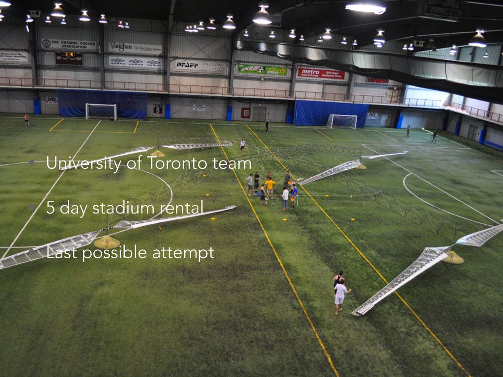 • University of Toronto team • 5 day stadium re...
