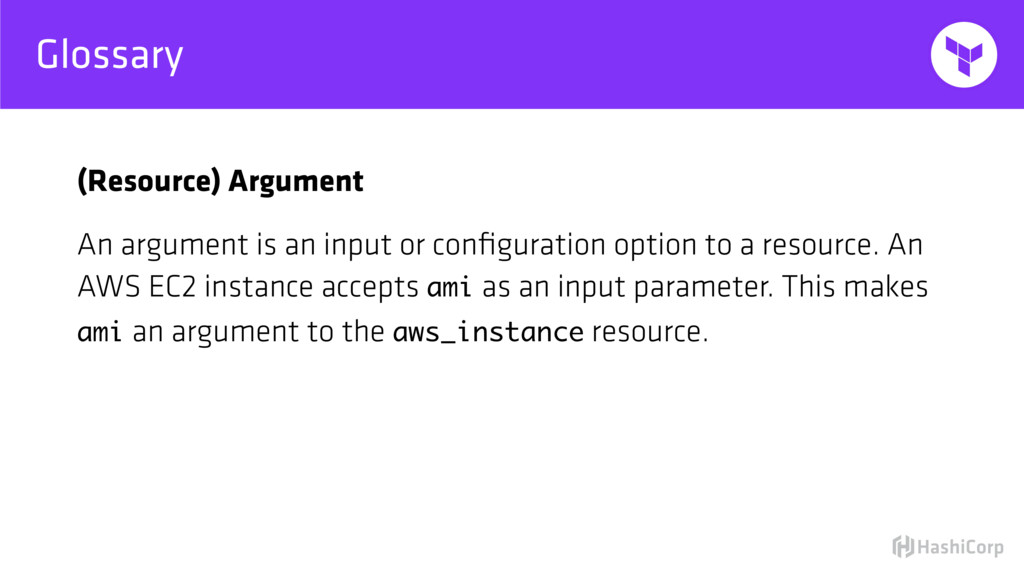 Glossary (Resource) Argument An argument is an ...