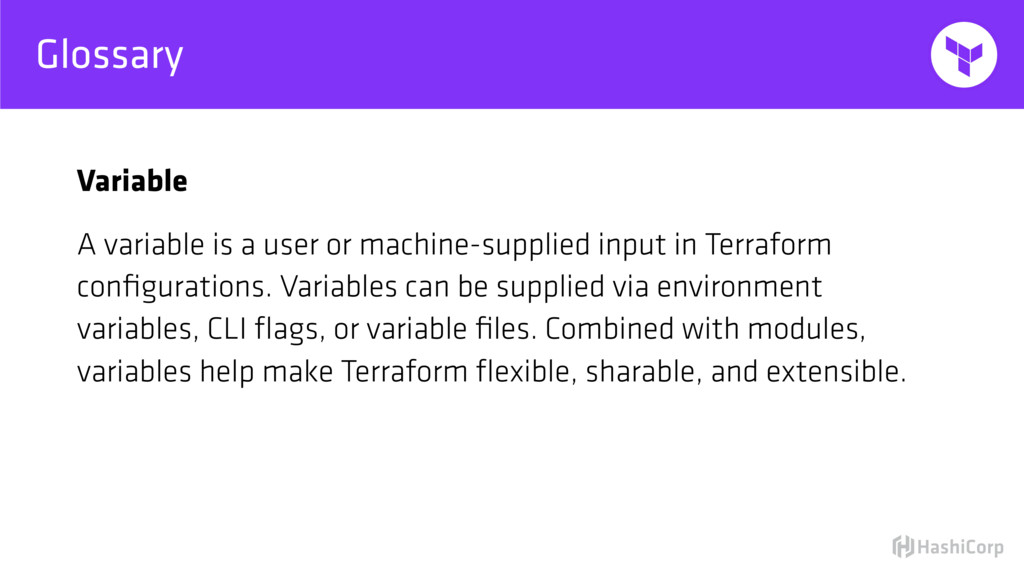 Glossary Variable A variable is a user or machi...