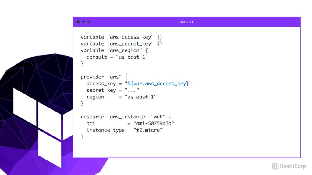"""variable """"aws_access_key"""" {} variable """"aws_secr..."""