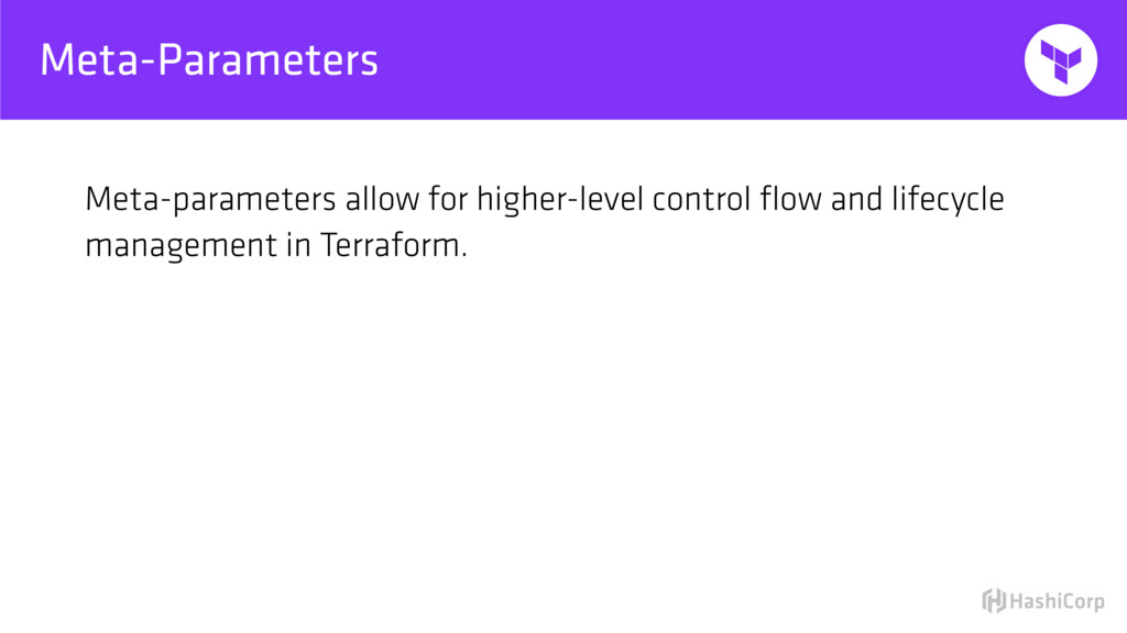 Meta-Parameters Meta-parameters allow for highe...