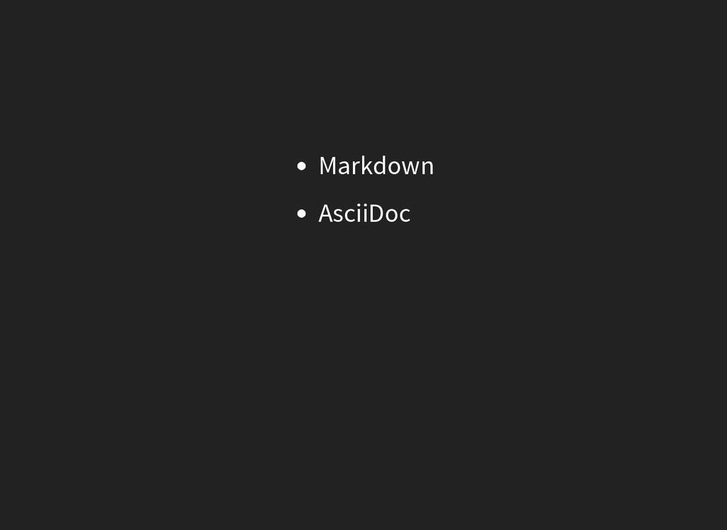 Markdown AsciiDoc