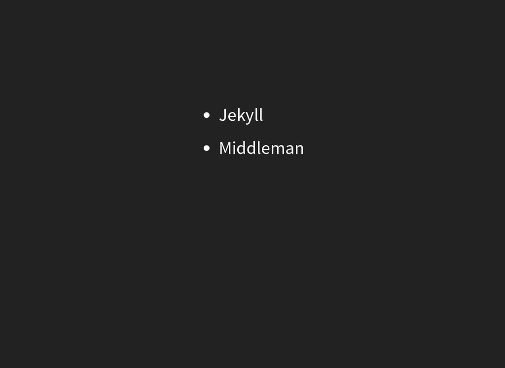 Jekyll Middleman