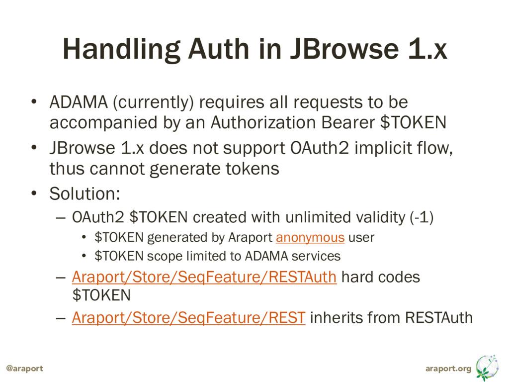 araport.org @araport Handling Auth in JBrowse 1...