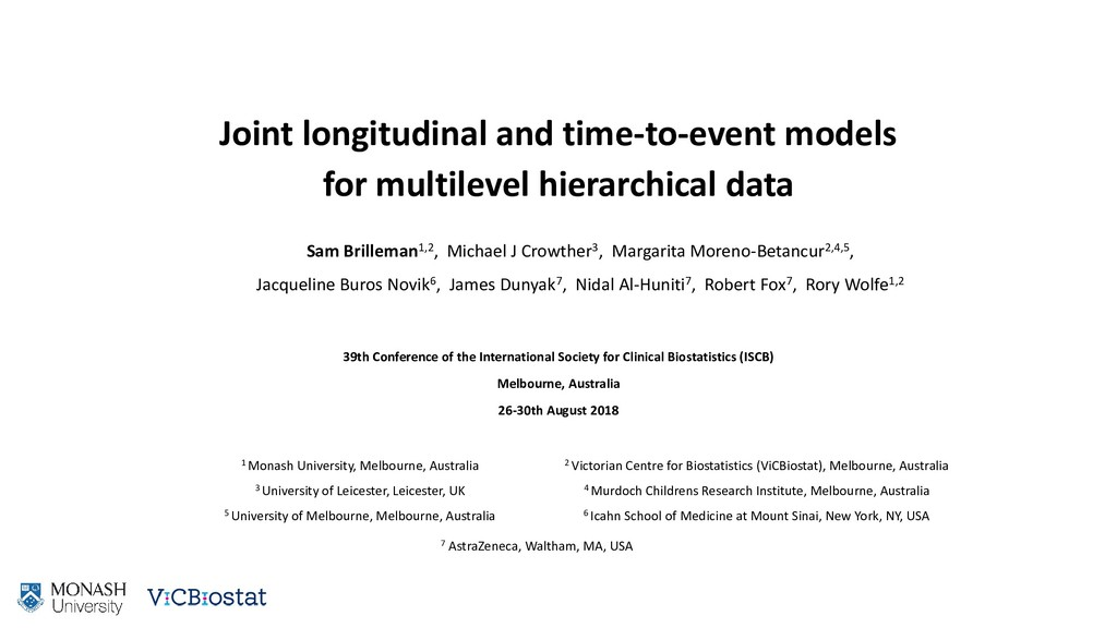 Joint longitudinal and time-to-event models for...